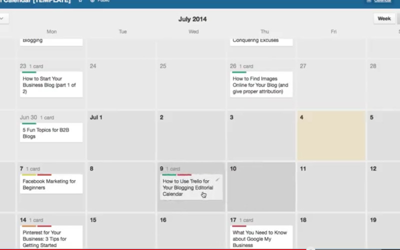 Creating a Blogging Editorial Calendar